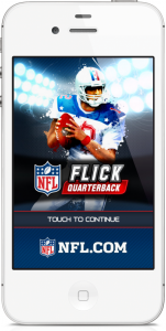 NFL Flick Quarterback Launches On iPhone
