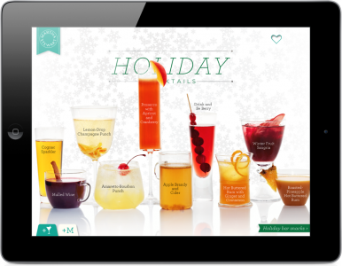 Martha Stewart Offers Up 20 Free Holiday Cocktail Recipes Through iPad App