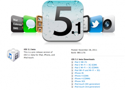 Apple Releases iOS 5.1 To Developers - Includes Mentions Of The iPad 3?