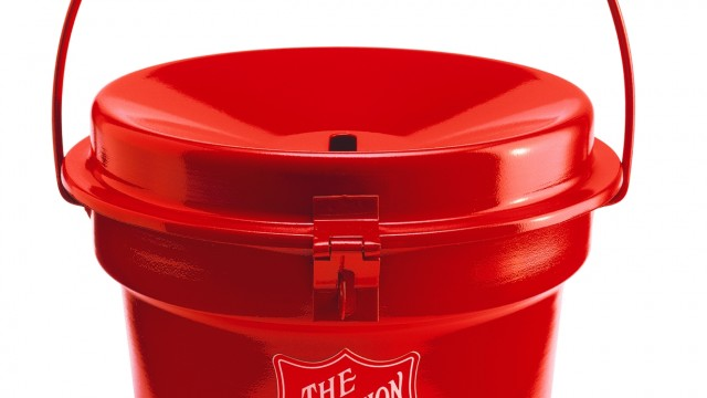 Bell Ringers For The Red Kettle Campaign Are Outfitted With Square Credit Card Readers