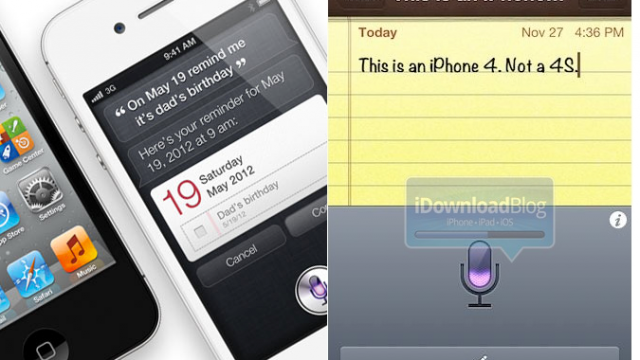 Siri Dictation Now Available On iPhone 4 And iPhone 3GS With New Jailbreak Tweak