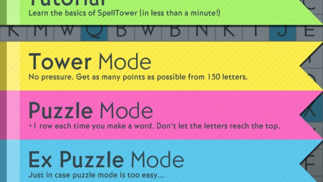 Conquer The Rising Pillars Of Letters In SpellTower For iPad