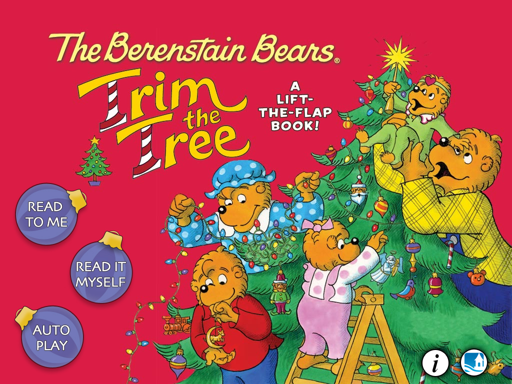 Follow Along As The Berenstain Bears Trim The Tree In Oceanhouse Media's First Lift-The-Flap OmBook