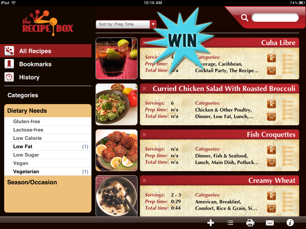 A Chance To Win The Recipe Box For iPad