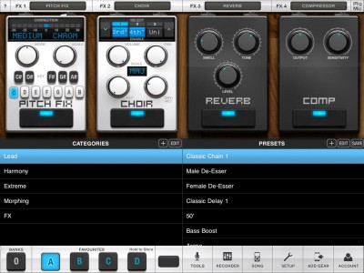 IK Multimedia Releases The iPad-Optimized Version Of VocaLive, Their Professional Live Vocal Processing App