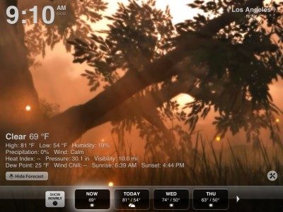 Weather HD v1.6 Supplies More Weather Details To Users, Plus A Holiday Season Reminder