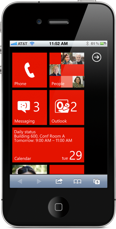 Microsoft Puts Windows Phone 7 UI In The Browser - Hopes To Bait You