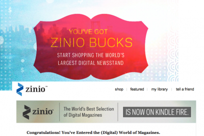 How To Get Your $25 Zinio Credit - For Use On Any Device