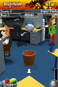 Backflip Studios Releases Paper Toss 2.0 - Includes New Throwable Objects, Moving Targets And More