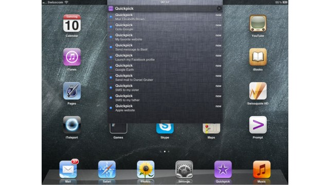 Quickpick - The Universal iOS Launcher! Lets Apple Fans Launch Actions From Notification Center