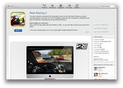 Real Racing 2 Now Available For Mac - Steer With An iOS Device