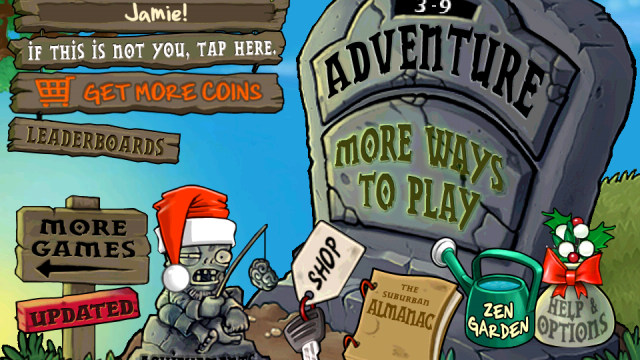 Plants Vs. Zombies Holiday Update Adds Some Festive Flare