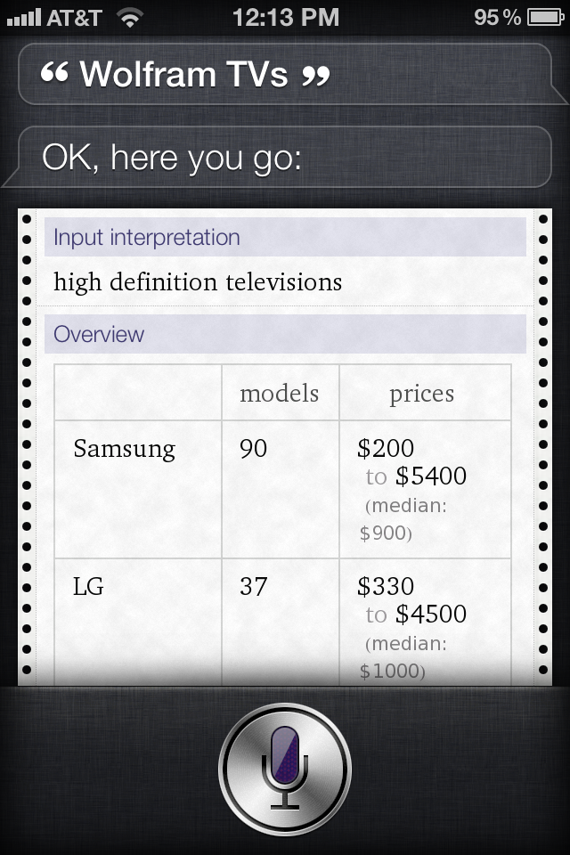 Wolfram Alpha Includes Best Buy API: Now You Can Shop Better With Siri