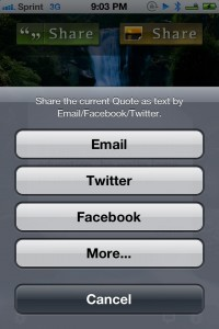 Quotes: Daily Inspiration & Wisdom with Lock Screen Wallpapers (iOS 5 Edition) by MagicAnywhere screenshot