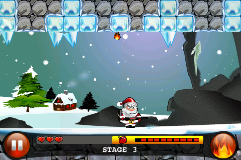 Help Santa Defeat The Pesky Icicles