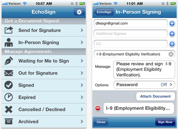 Adobe Launches EchoSign iOS App - Allows Users To Sign Digital Signatures On An iOS Device