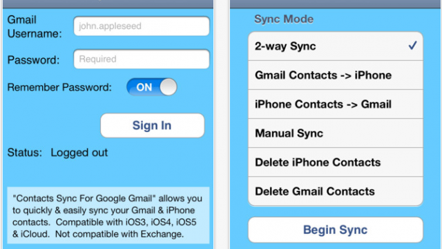 Contacts Sync For Google Mail: Sync Your Gmail Contacts With Your iPhone