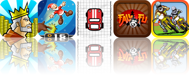 iOS Apps Gone Free: King Cashing: Slots Adventure, Ruberth's Kick N' Fly, Doodle Kart, And More
