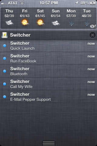 App Switcher - Notification Center