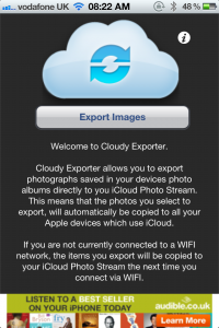 Cloudy Exporter - Export Images From Your iPhone To Photo Stream