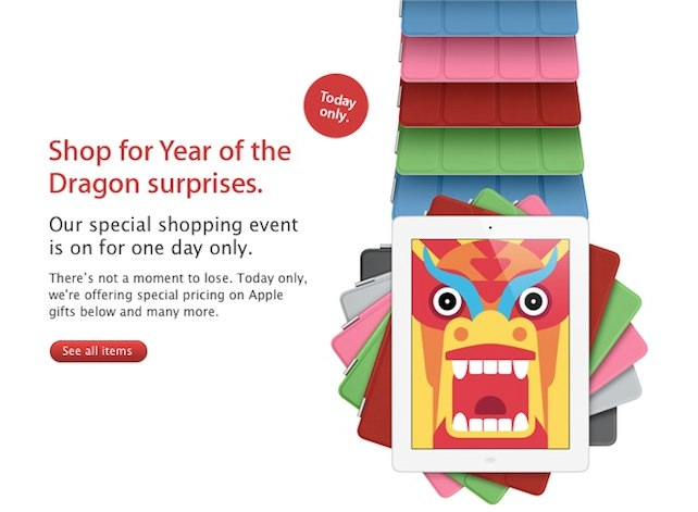 """Apple's """"Red Friday"""" Sales Go Live - Happy Lunar New Year!"""