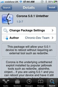 Jailbreak Only: Corona 5.0.1 Untether Updated - Fixes iBooks, Improves Support For iPhone 4S