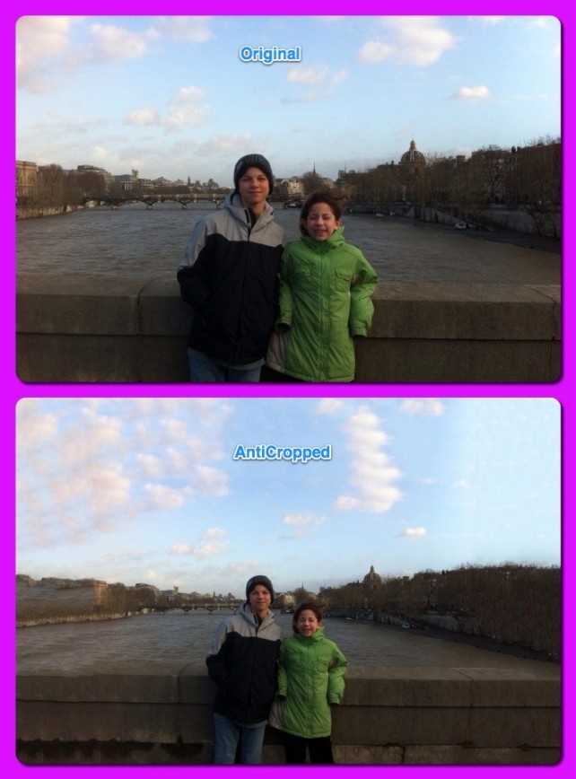 AntiCrop Reverses The Photo Cropping Process