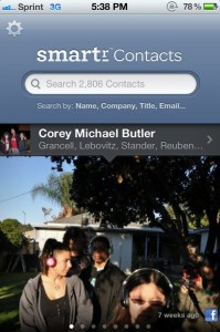 Smartr Contacts for iPhone by Xobni Corp. screenshot