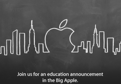 Apple To Make Education Announcement Next Thursday In New York
