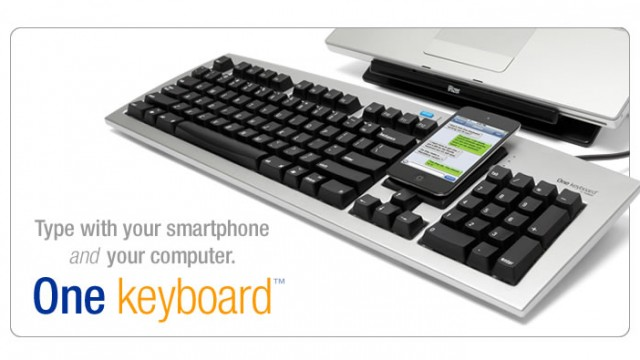One Keyboard For Your Computer Or iPhone