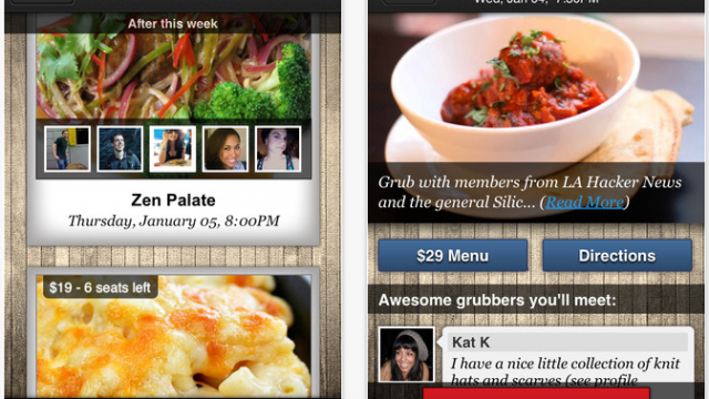 Grubwithus: The Social Network For Food-Lovers Launches An iPhone App