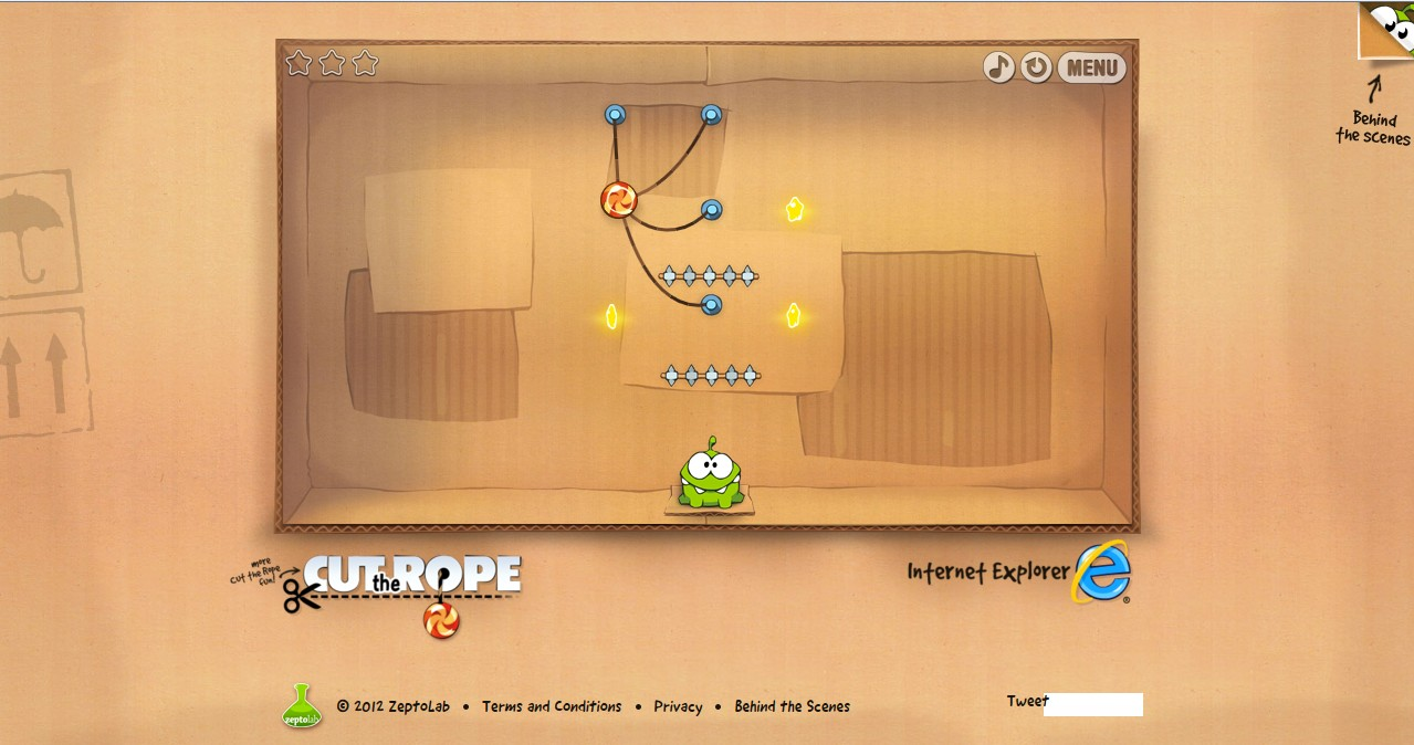 CES 2012: Cut The Rope Gets HTML5 Version