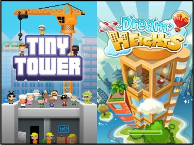 """Zynga Apes """"Tiny Tower"""" With Freemium """"Dream Heights"""" Title"""