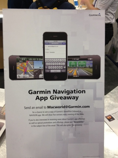 macworld 2012 garmin demos new social media and wikipedia. Black Bedroom Furniture Sets. Home Design Ideas