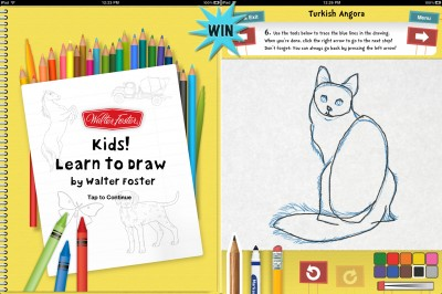 A Chance To Win Kids! Learn To Draw By Walter Foster For iPad