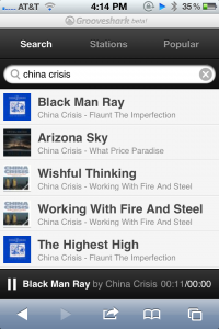 Grooveshark Enters Web App Community Waters