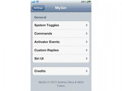 Jailbreak Only: MySiri - Deep Siri Customization, Coming Soon