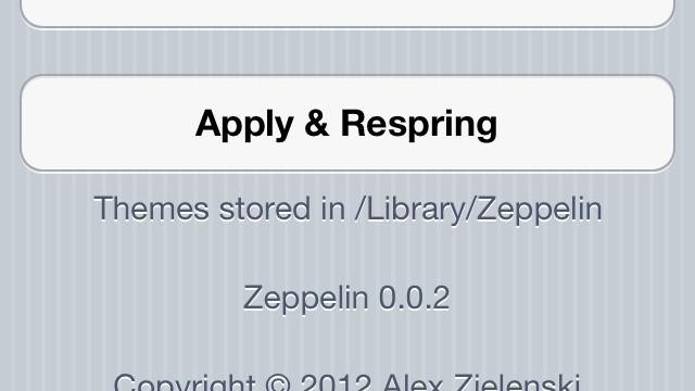 Jailbreak Only: Zeppelin - Choose Your Own Carrier Logo