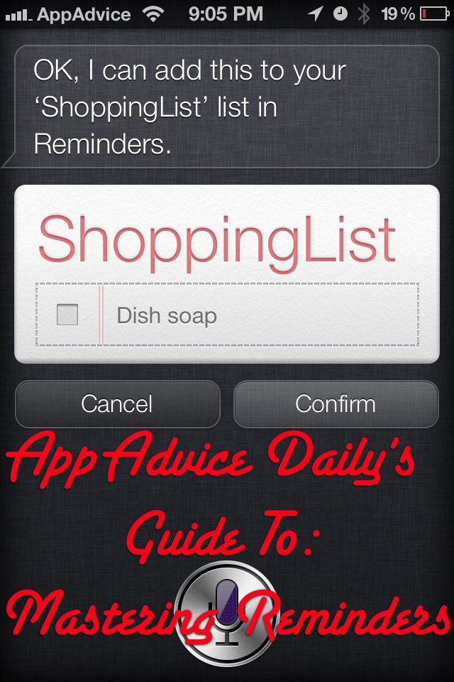AppAdvice Daily: Learn How To Master Reminders And How To Use Siri To Help