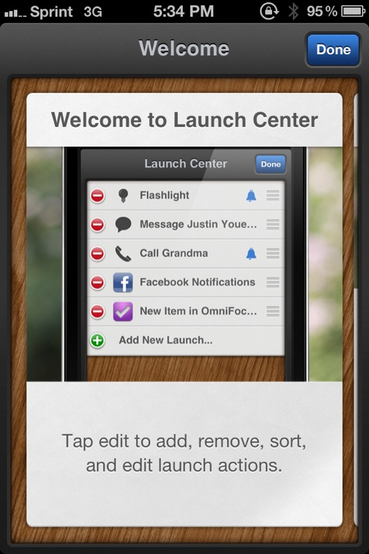 Launch Center Updated, Makes Things Easier With 'Supported Apps'