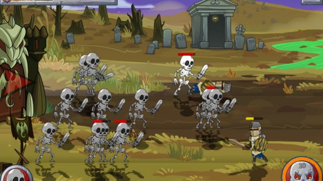 Take Command Of An Undead Army In Monster Wars