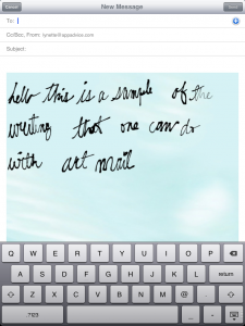 Handwrite Emails With ArtMail On Your iPad
