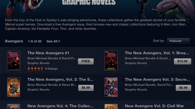 Marvel Graphic Novels Now Available In The iBookstore