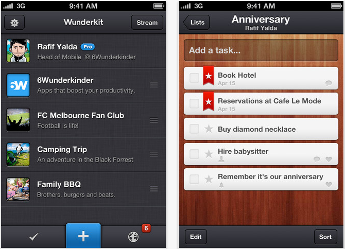 Wunderkit For iPhone: Getting-Things-Done Goes Social