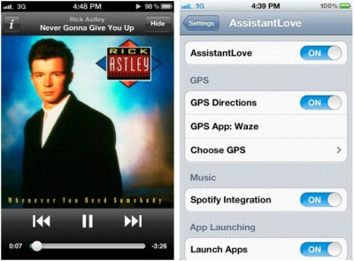 Jailbreak Only: AssistantLove Gives Siri Spotify Integration And More!