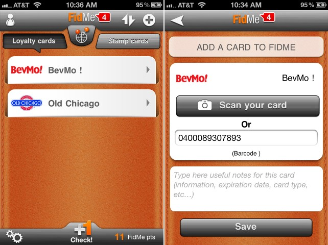 Your Loyalty Cards Can Go Wherever Your iPhone Goes With FidMe - Plus A Chance To Win An iTunes Gift Card!