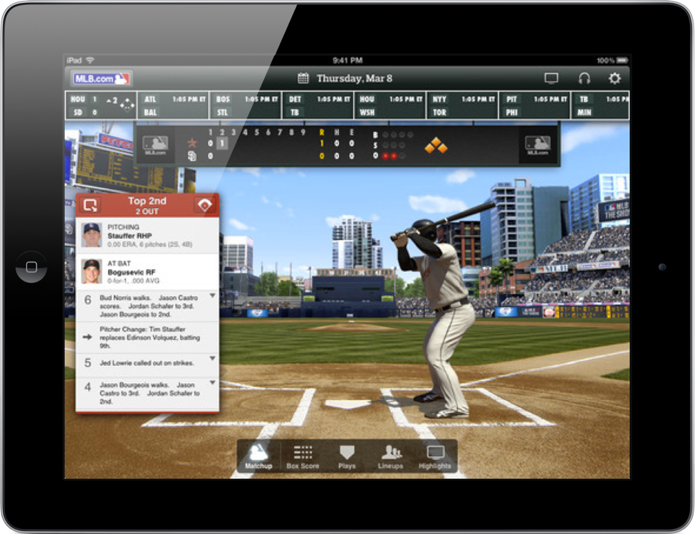 MLB.com At Bat Updated For 2012 Season