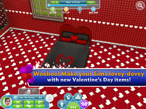 The Sims FreePlay Gets A Valentine's Day Update: New Items, Career and More!
