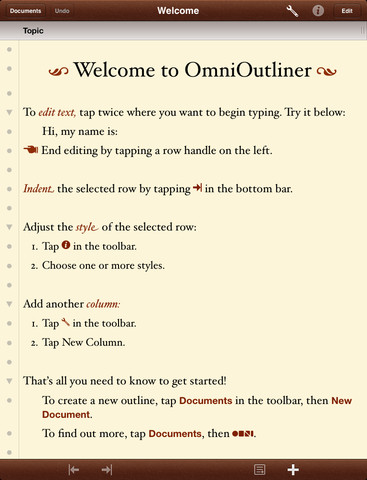 OmniOutliner Gets Updated To Version 1.2