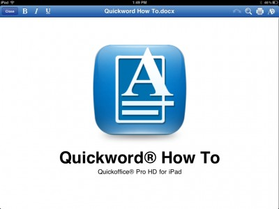 Quickoffice Pro HD Is Now Capable Of Viewing And Editing Office 2010 Documents